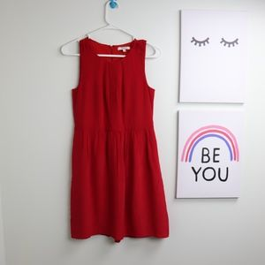Madewell Size 0 Red Silk Aline Dress
